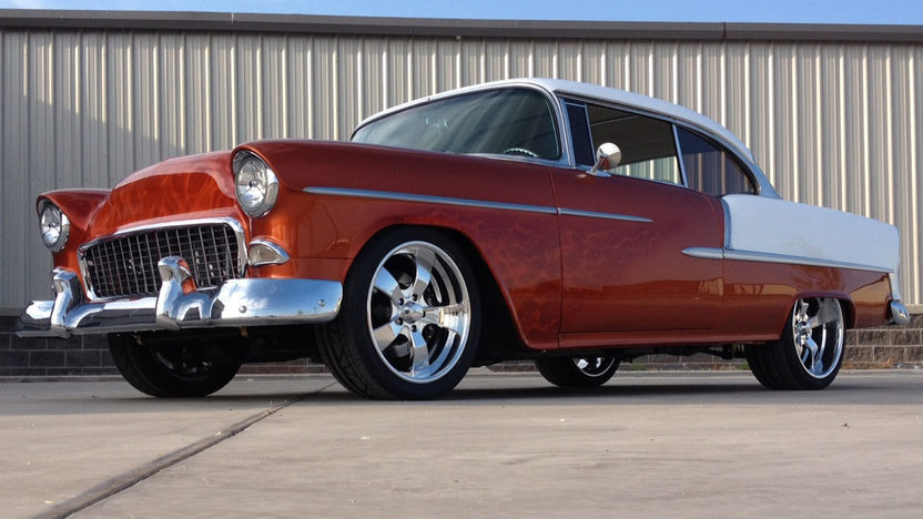 1955 Chevrolet Bel Air Hardtop LS7/630 HP, Air Ride presented as lot S112 at Houston, TX 2013 - image8