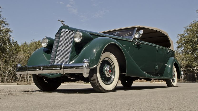 1936 Packard Phaeton Series 1402, Straight Eight, 3-Speed presented as lot S173 at Houston, TX 2013 - image12