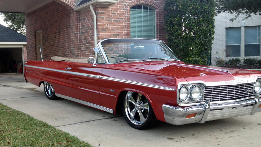 1964 Chevrolet Impala SS Convertible 327 CI, Automatic presented as lot S69 at Houston, TX 2013 - image3