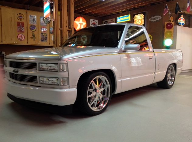 1995 Chevrolet Silverado Pickup Supercharged 350 CI, 4-Link Rear presented as lot T230 at Houston, TX 2014 - image5