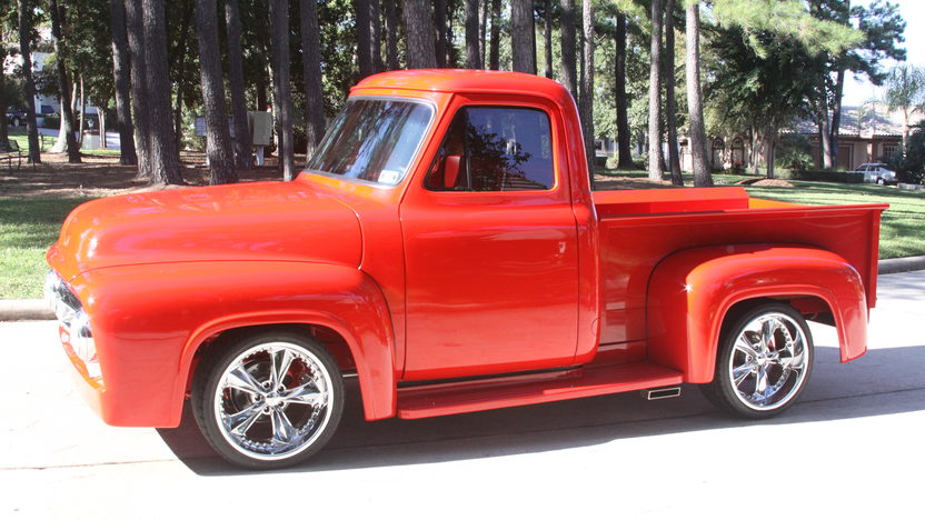 1953 Ford F100 Pickup 350 CI, Stepside Bed presented as lot S69 at Houston, TX 2014 - image2
