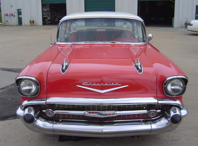 1957 Chevrolet Bel Air 2-Door Hardtop 350 CI, 4-Speed presented as lot F77 at Kansas City, MO 2010 - image7