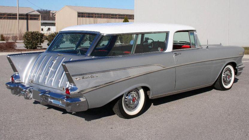 1957 Chevrolet Nomad Wagon 350/350 HP, Automatic presented as lot F84 at Kansas City, MO 2010 - image2