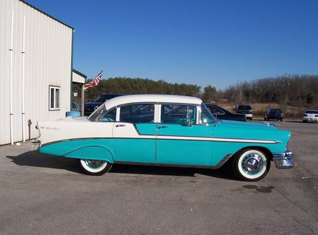 1956 Chevrolet Bel Air 4-Door 265 CI, Automatic presented as lot F156 at Kansas City, MO 2010 - image3