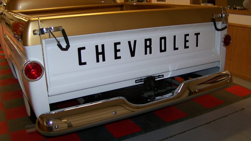 1958 Chevrolet Apache Pickup 50th Anniversary Edition, 283 CI, 3-Speed presented as lot F174 at Kansas City, MO 2010 - image2