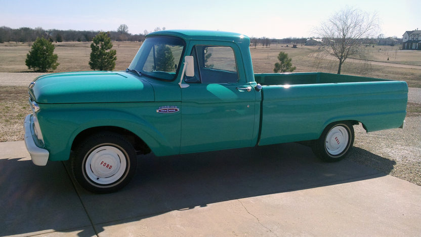 1965 Ford F100 Pickup 240 CI, 3-Speed presented as lot T65 at Kansas City, MO 2013 - image2