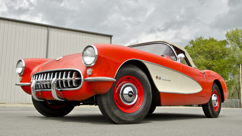 1957 Chevrolet Corvette Convertible 283 CI, 4-Speed presented as lot S114.1 at Kansas City, MO 2014 - image10