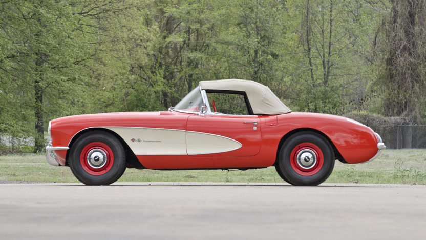 1957 Chevrolet Corvette Convertible 283 CI, 4-Speed presented as lot S114.1 at Kansas City, MO 2014 - image2