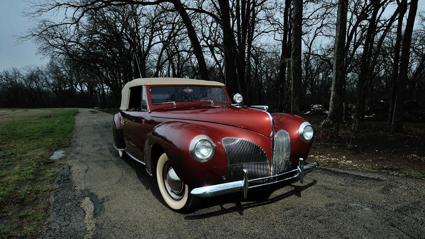 1940 lincoln zephyr continental convertible 120 hp mecum. Black Bedroom Furniture Sets. Home Design Ideas