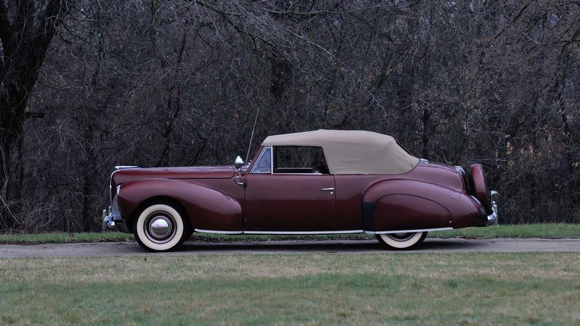 1940 lincoln zephyr continental convertible 120 hp mecum auctions. Black Bedroom Furniture Sets. Home Design Ideas