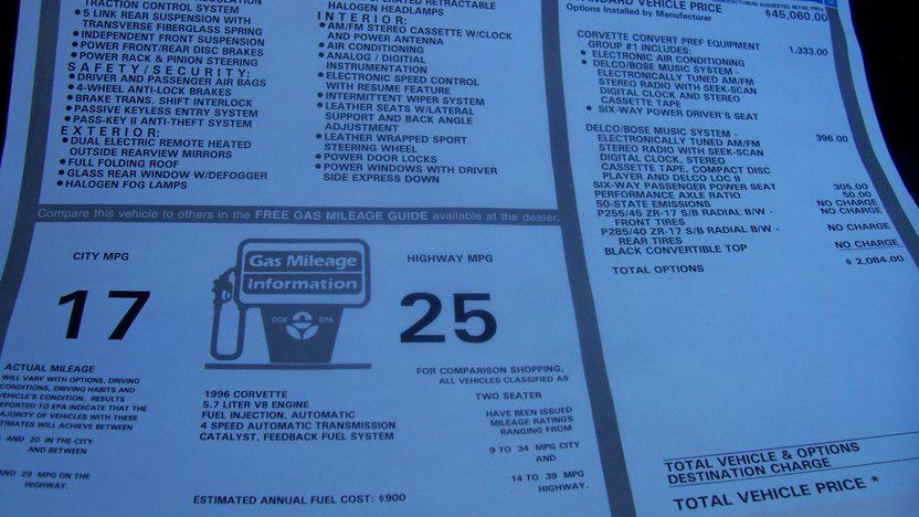 1996 Chevrolet Corvette Convertible 350/300 HP, Automatic presented as lot S22 at Kansas City, MO 2009 - image8