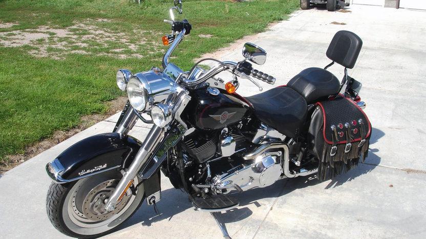2002 Harley-Davidson Fatboy 5-Speed presented as lot T112 at Kansas City, MO 2011 - image3