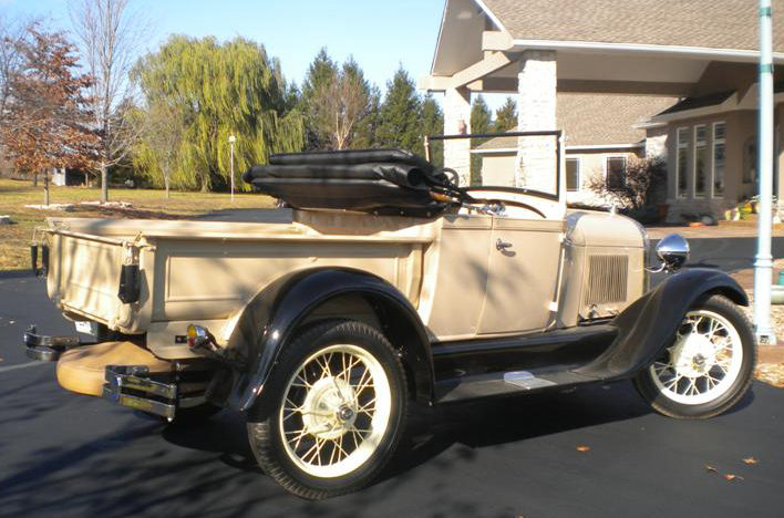 1929 Ford Model A Roadster Pickup presented as lot T254 at Kansas City, MO 2011 - image2