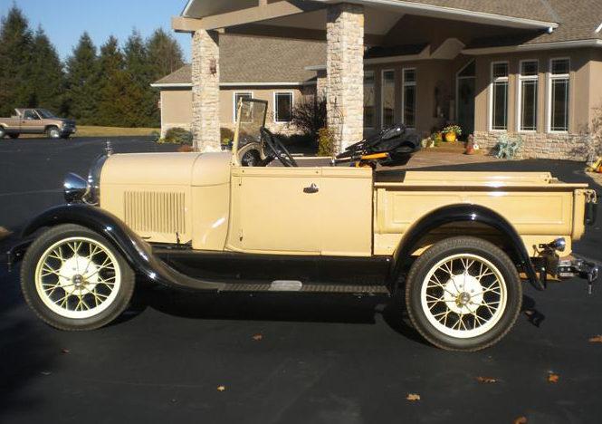 1929 Ford Model A Roadster Pickup presented as lot T254 at Kansas City, MO 2011 - image3