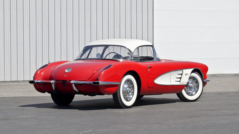 1959 Chevrolet Corvette Convertible 350 CI, Automatic presented as lot F122 at Kansas City, MO 2012 - image2