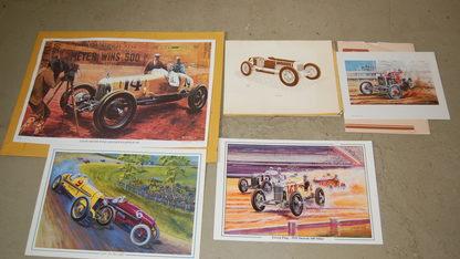 Vintage Racing Prints Qty 15