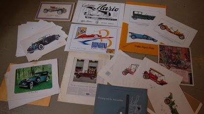 Vintage Car Prints Qty 12