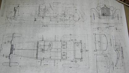 Alfo Romeo Blueprints Qty 10