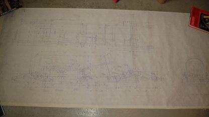 Duesenberg Blueprints Qty 20