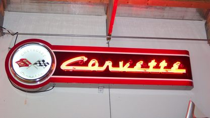 Neon Sign Corvette with logo