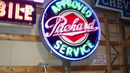 Sign Approved Packard Service