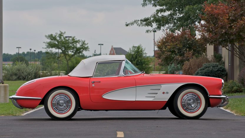 1958 Chevrolet Corvette Convertible Previously Owned by George Strait presented as lot S62 at Canal Winchester, OH 2010 - image2