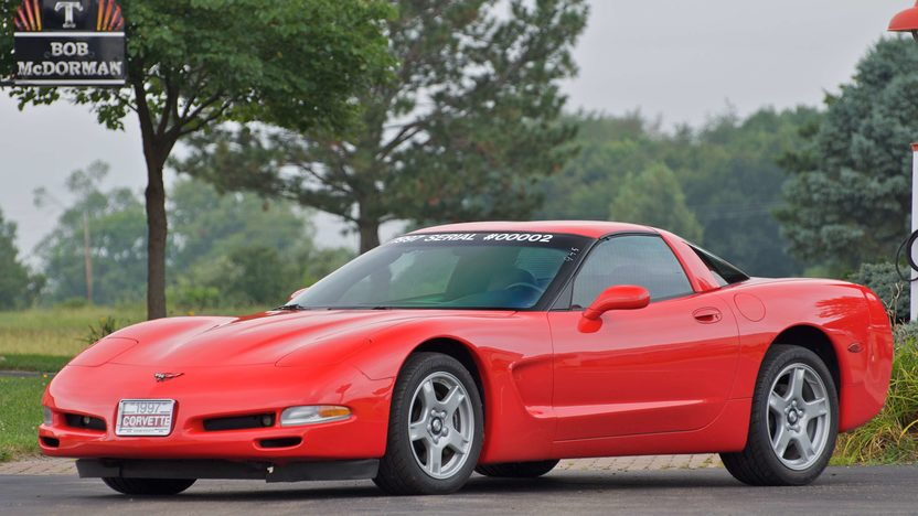 1997 Chevrolet Corvette Coupe Serial #2, 1G1YY22G3V5100002 presented as lot S119 at Canal Winchester, OH 2010 - image2