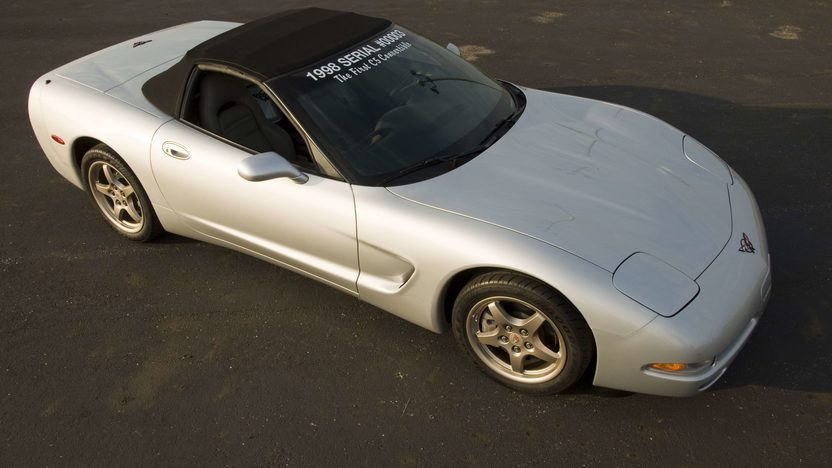 1998 Chevrolet Corvette Convertible Serial #3, 1G1YY32G6W5100003  presented as lot S124 at Canal Winchester, OH 2010 - image3