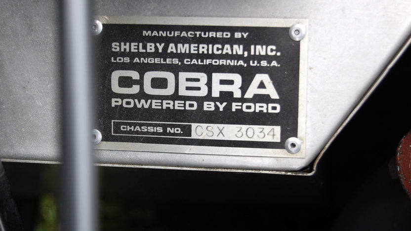 1966 Shelby 427 S/C Cobra  Roadster CSX 3034 presented as lot F248.1 at Indianapolis, IN 2009 - image7