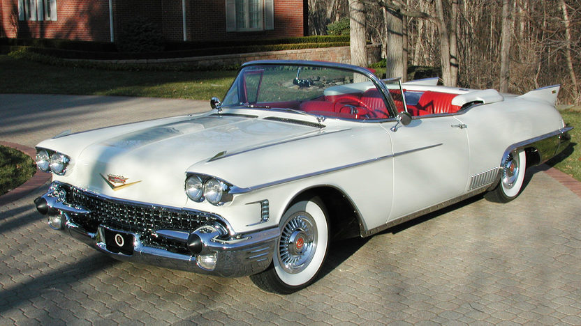 1958 Cadillac Eldorado Biarritz Convertible 365/335 HP presented as lot S177 at Indianapolis, IN 2011 - image2