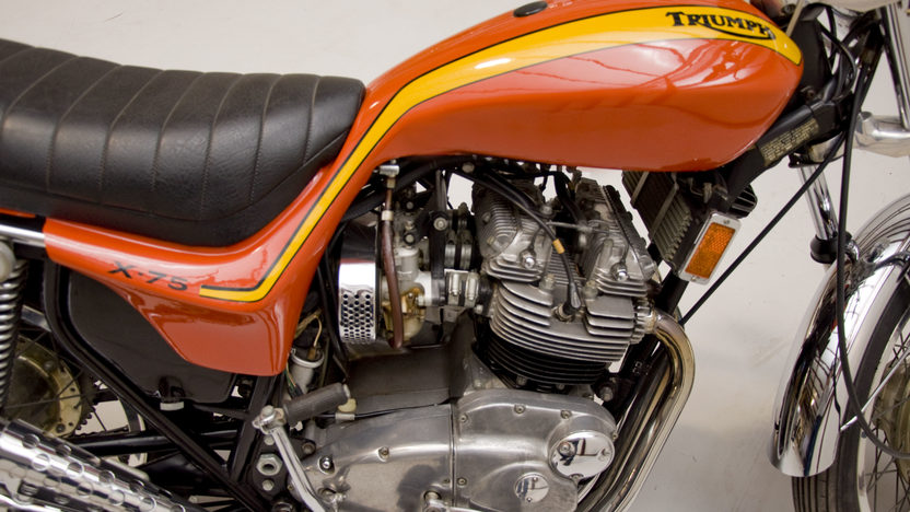 1973 Triumph X-75 Hurricane 750CC presented as lot U61 at Indianapolis, IN 2011 - image5
