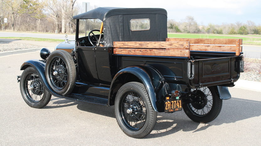 1929 Ford Model A Roadster Pickup presented as lot W216 at Indianapolis, IN 2012 - image2