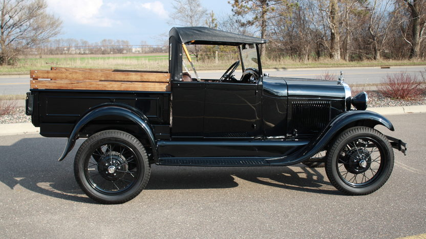 1929 Ford Model A Roadster Pickup presented as lot W216 at Indianapolis, IN 2012 - image3