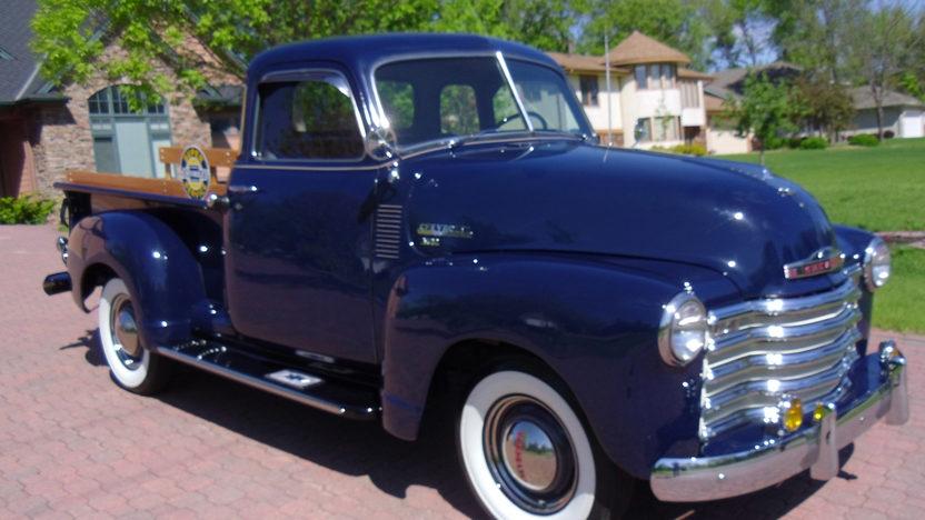 1950 Chevrolet 3100 Pickup Mecum Indianapolis 2012 T284