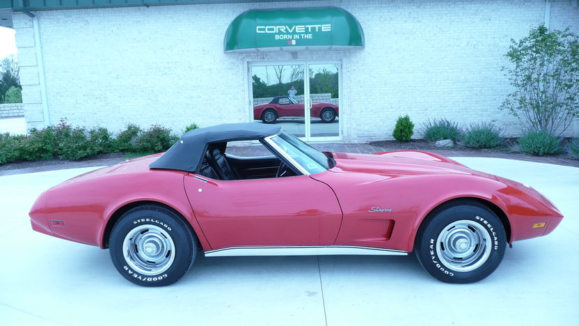 1975 Chevrolet Corvette Convertible 350/165 HP, Automatic presented as lot T406 at Indianapolis, IN 2012 - image8