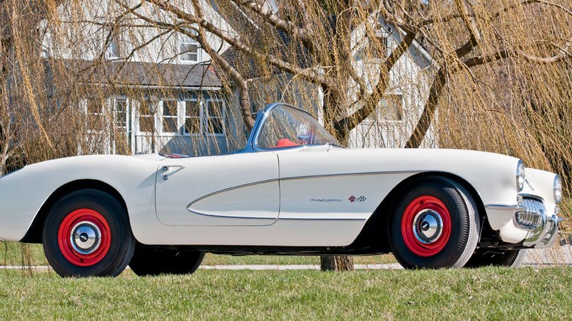 1957 Chevrolet Corvette Factory Airbox 283/283 HP, 4-Speed presented as lot S160 at Indianapolis, IN 2012 - image2