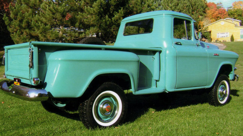 1956 GMC 100 4x4 Pickup 270 CI, 4-Speed presented as lot S31 at Indianapolis, IN 2012 - image2