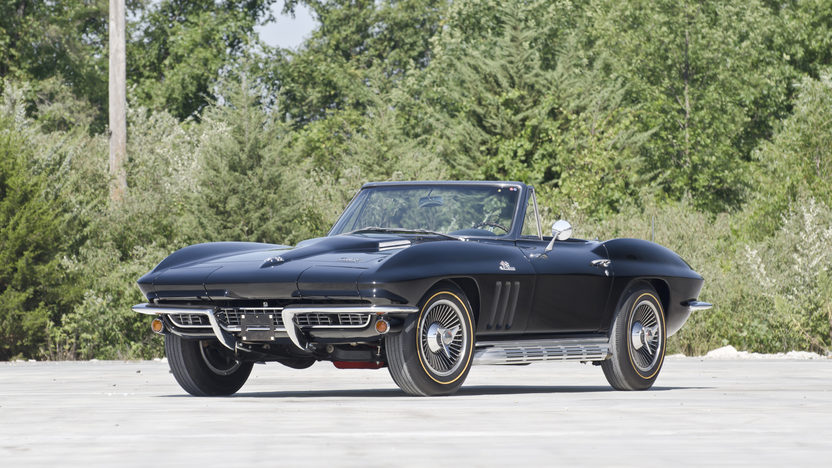 1966 Chevrolet Corvette Convertible 427/425 HP, 4-Speed, Triple Black presented as lot T266 at Indianapolis, IN 2013 - image2