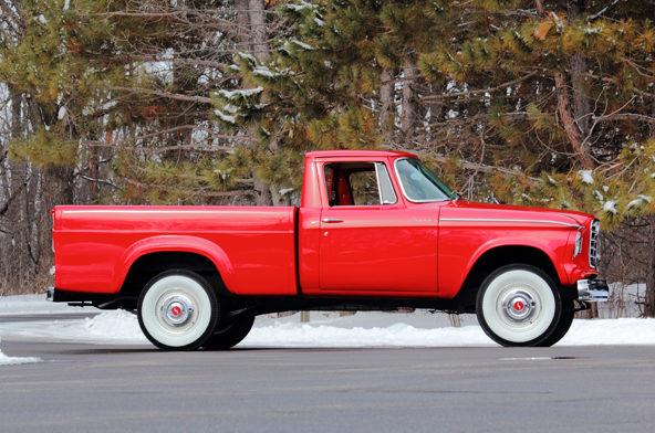 1961 Studebaker Champion Pickup 170 CI, 3-Speed presented as lot W225 at Indianapolis, IN 2013 - image2