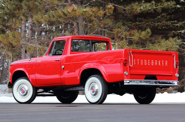 1961 Studebaker Champion Pickup 170 CI, 3-Speed presented as lot W225 at Indianapolis, IN 2013 - image3