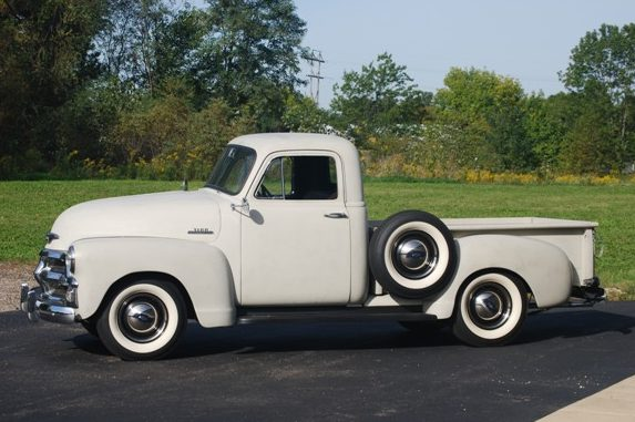 1954 Chevrolet 3100 Pickup presented as lot W253 at Indianapolis, IN 2013 - image2