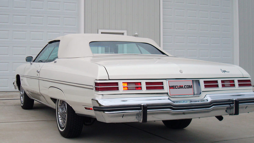 1975 Chevrolet Caprice Convertible 400 CI, Triple White presented as lot W259 at Indianapolis, IN 2013 - image2