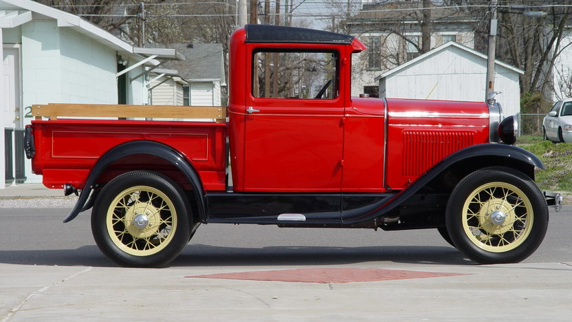 1930 Ford Model A Closed Cab Pickup 201 CI, 3-Speed presented as lot T108 at Indianapolis, IN 2013 - image2