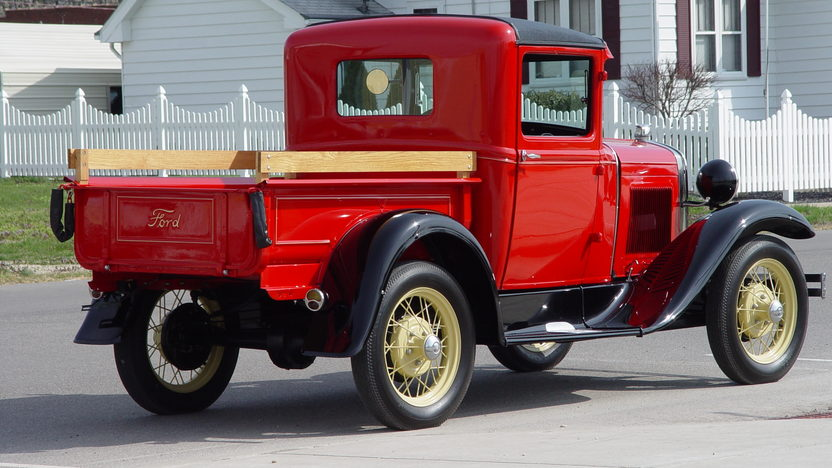 1930 Ford Model A Closed Cab Pickup 201 CI, 3-Speed presented as lot T108 at Indianapolis, IN 2013 - image3