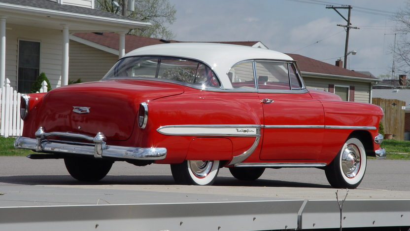1954 Chevrolet Bel Air Hardtop 235 CI, 3-Speed presented as lot T116 at Indianapolis, IN 2013 - image3