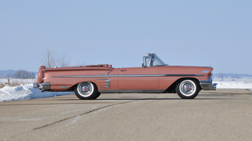 1958 Chevrolet Impala Convertible 348 CI, Continental Kit presented as lot S9 at Indianapolis, IN 2013 - image2