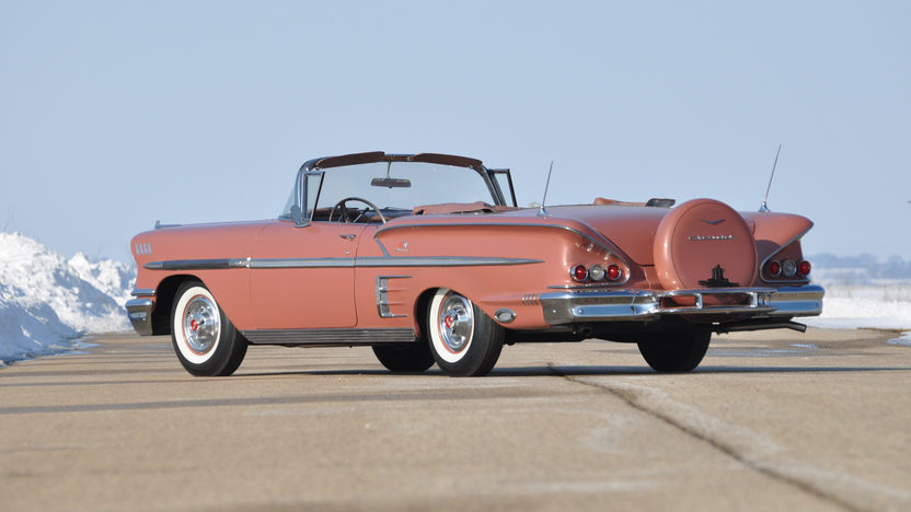 1958 Chevrolet Impala Convertible 348 CI, Continental Kit presented as lot S9 at Indianapolis, IN 2013 - image3
