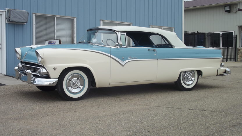 1955 Ford Sunliner 292/193 HP, Automatic presented as lot S73 at Indianapolis, IN 2013 - image9