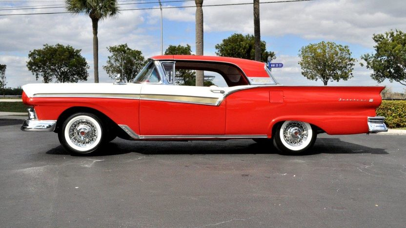 1957 Ford Fairlane 500 Skyliner 292 CI, Automatic presented as lot S104 at Indianapolis, IN 2013 - image2