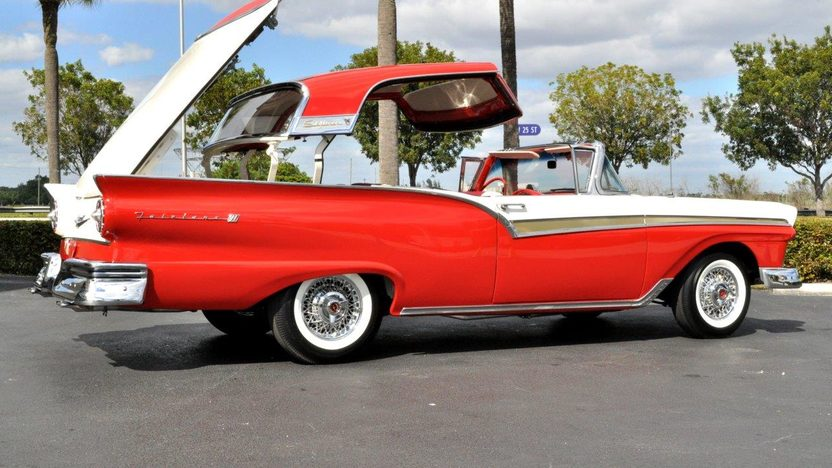 1957 Ford Fairlane 500 Skyliner 292 CI, Automatic presented as lot S104 at Indianapolis, IN 2013 - image8